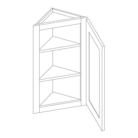 "30"" ANGLED WALL CABINET -White Shaker, , IKS, Select My Cabinetry, Kitchen cabinets, Philadelphia cabinets, Discount kitchen cabinets, Buy Kitchen Cabinets Online,"