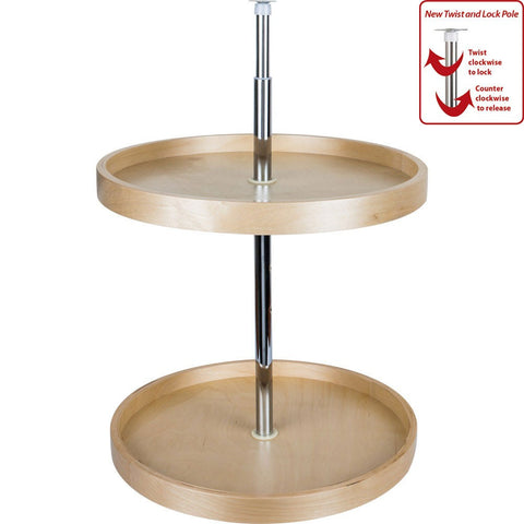 "20"" Round Banded Lazy Susan Set with Twist and Lock Adjustable Pole., Cabinet Organizers, Hardware Resources, Select My Cabinetry, Kitchen cabinets, Philadelphia cabinets, Discount kitchen cabinets, Buy Kitchen Cabinets Online,"
