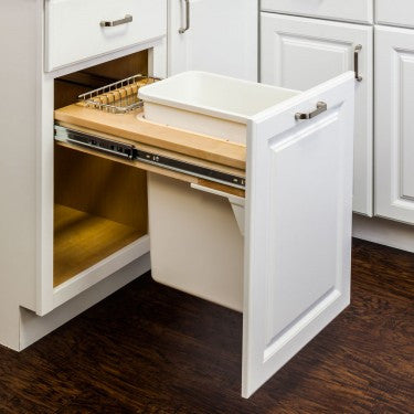 Top Mount Soft Close Single Trash Can, , Select My Cabinetry, Select My Cabinetry, Kitchen cabinets, Philadelphia cabinets, Discount kitchen cabinets, Buy Kitchen Cabinets Online,