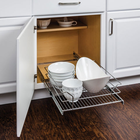"Metal Basket Pullout Organizer for 21"" Base Cabinet, Cabinet Organizers, Hardware Resources, Select My Cabinetry, Kitchen cabinets, Philadelphia cabinets, Discount kitchen cabinets, Buy Kitchen Cabinets Online,"