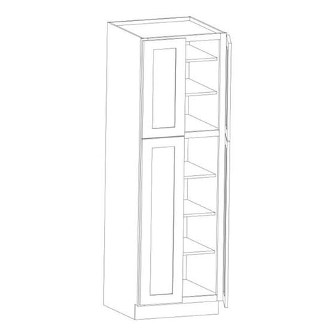 "90"" PANTRY CABINET -White Shaker"
