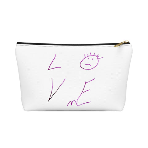 Love Me Crooked - Accessory Pouch w T-bottom