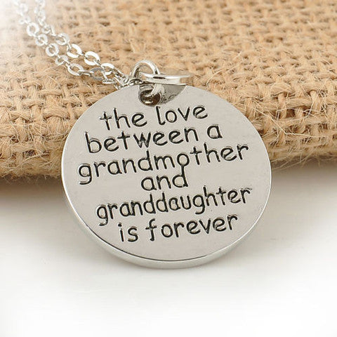 New Family Necklace Pendant The Love Between Grandma and Granddaughter Love