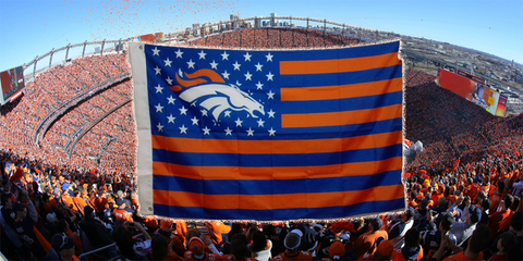 Denver Broncos Flag 3' x 5' Stars & Stripes Banner