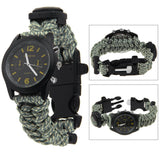 Paracord Watch With Compass & Flint Fire Starter