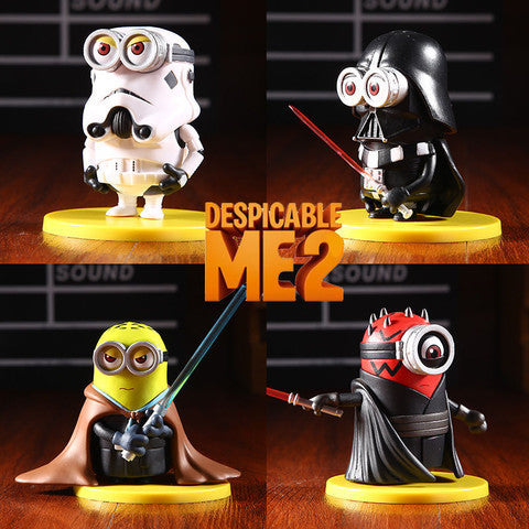 Minions Lot of 4 Figure Toy Star Wars Darth Vader Maul Stormtrooper Jedi Knight Collectibles