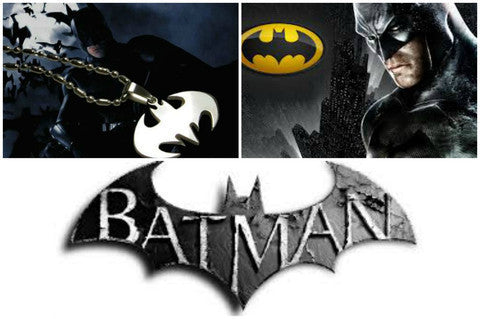 BATMAN FASHION SUPER HERO STEEL NECKLACE COSPLAY ANIME LOGO CHAIN PENDANT SILVER