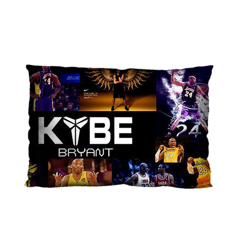 Customized Los Angeles Lakers Kobe Bryant Pillow Case, 20* 30 Inch Polyester Zippered Rectangle Pillowcase cover (Twin Sides)