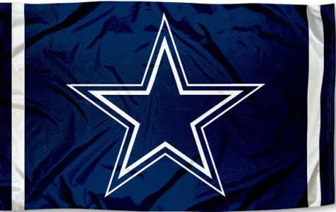 "Dallas Cowboys ""STAR"" Banner Flag"
