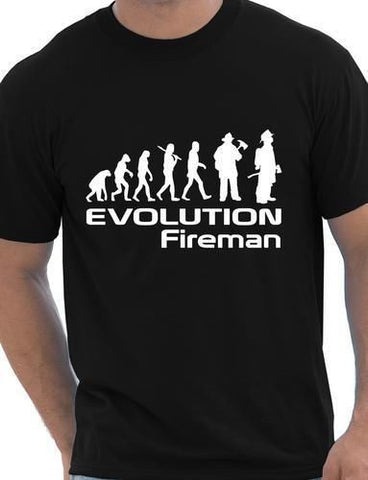 Evolution Of A Fireman Firefighter T shirt More Size and Colors