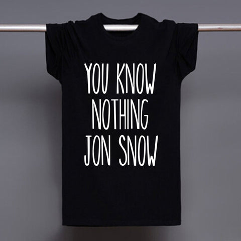 Game Of Thrones You Know Nothing Jon Snow T Shirts