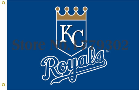 Kansas City Royals Team Logo Flag