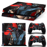 Mortal Kombat Sub-Zero Edition Skin for Sony PS4 Console and 2 Controllers