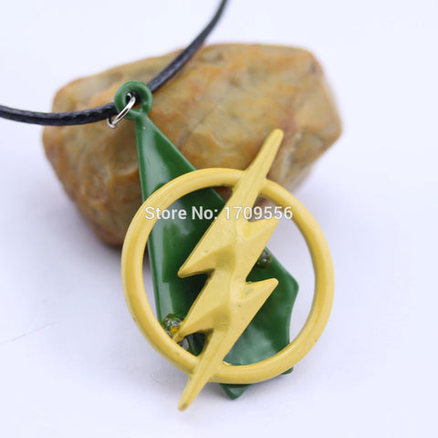 The Flash Green Arrow Fan Necklace