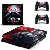 The Witcher 3 Wild Hunt PS4 Skin Sticker + 2 Controllers