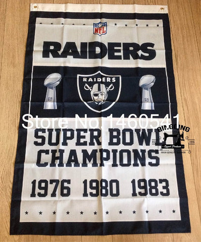 Oakland Raiders Super Bowl Champions Banner Flag