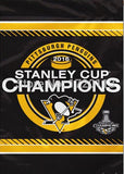 Pittsburgh Penguins 2016 Stanley Cup Champion Banner Flag