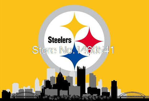 Pittsburgh Steelers City Skyline Flag 3ft x 5ft Polyester Banner