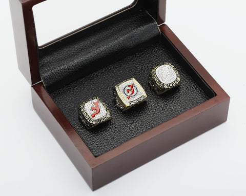 New Jersey Devils Stanley Cup Championship 3 Ring Set (1995,2000 And 2003)