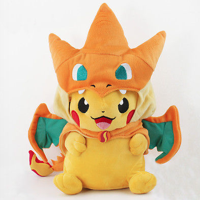 POKEMON PIKACHU WITH CHARIZARD HAT