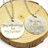 New Grey's Anatomy You're My Person Pendant Necklaces FREE