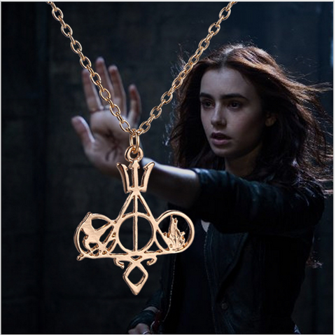The Mortal Instruments Shadowhunters Divergent Hunger Games Harry Potter Necklace