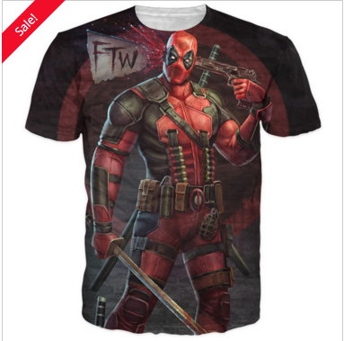 Comic Deadpool 3d T-Shirt