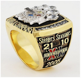 PITTSBURGH STEELERS CHAMPIONSHIP RINGS (6) FOR YEARS 74 75 78 79 05 08