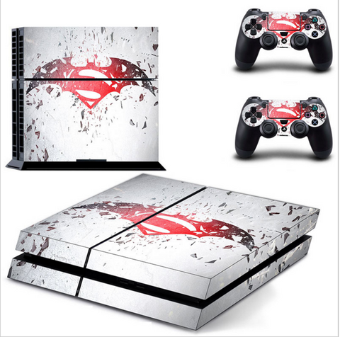 Batman vs Superman Dawn of Justice PS4 Xbox One Skin Sticker for Console and 2 Controllers