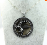Game of Thrones Winter is Coming Metal Crescent Necklace