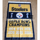 Pittsburgh Steelers Championship Flag Banner