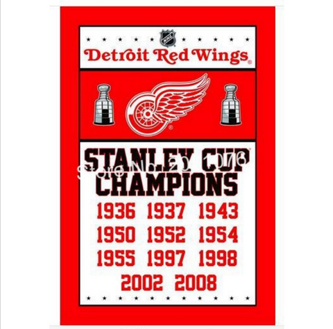 DETROIT RED WINGS CHAMPIONSHIP BANNER FLAG
