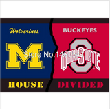 NCAA NFL HOUSE DIVIDED FLAGS (FREE SHIPPING)