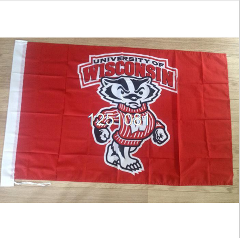 WISCONSIN NCAA FLAG