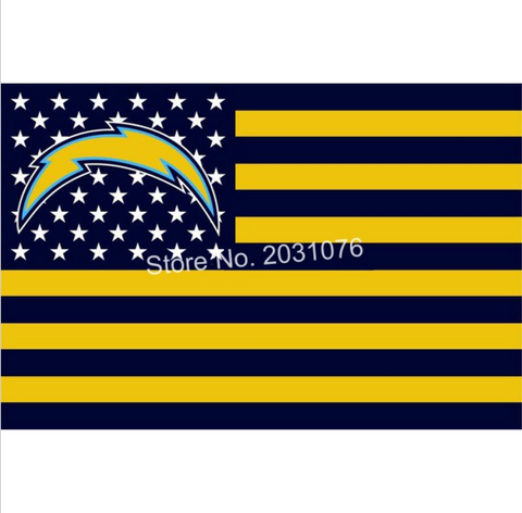 SAN DIEGO CHARGERS STARS AND STRIPES 3 X 5 FLAG