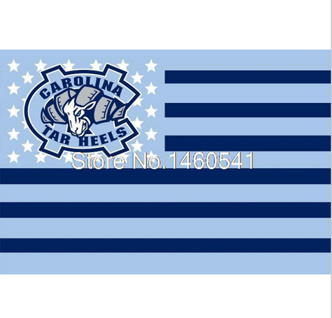 UNC Tarheels NCAA Flag