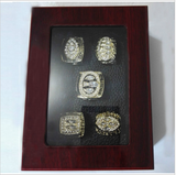(FREE SHIPPING) SAN FRANCISCO  SUPER BOWL REPLICA CHAMPIONSHIP 5 RING SET WITH BOX