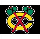 OLD STYLE CHICAGO BLACKHAWKS 3 X 5 FLAG