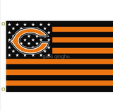 CHICAGO BEARS STARS AND STRIPES 3 X 5 FLAG