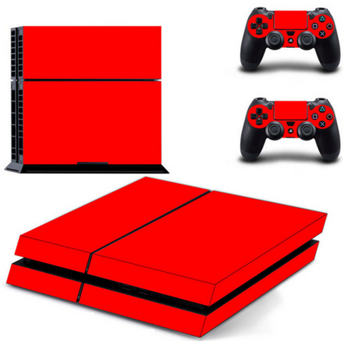 ROYAL RED  PS4 SKIN CONSOLE + 2 CONTROLLERS