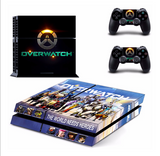 OverWatch Ps4 Skin Cover For Console + 2Pcs Controller Protective Skins