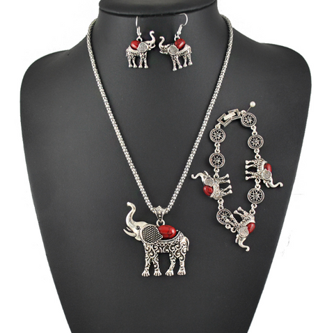 Sorority Delta Sigma Theta DST Themed Antique Silver Jewelry Set