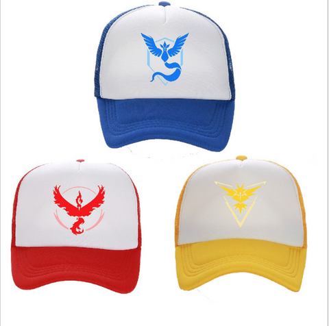 Pokemon Go  Team Valor Team Mystic Team Instinct Cosplay Style Cap