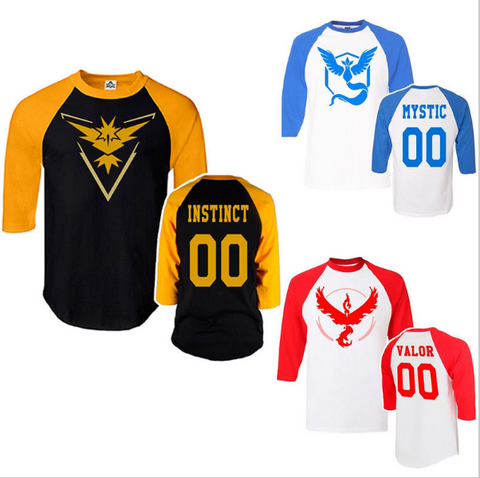 Pokemon Go Men's Team Half Sleeve Style Shirt