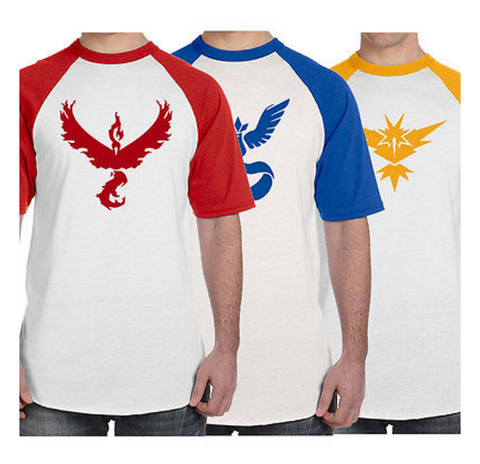 Pokemon Go Team Short Sleeve Pokemon Go Shirt