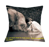 Budda Style Cushion Pillow Case Cover