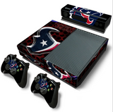 Houston Texans skins stickers for PS4/Xbox One console + 2 controllers decal