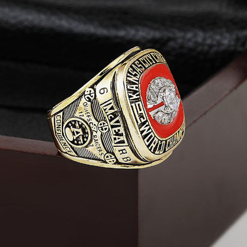 Kansas City Chiefs 1969 Super Bowl Football Championship Ring Fan Gift