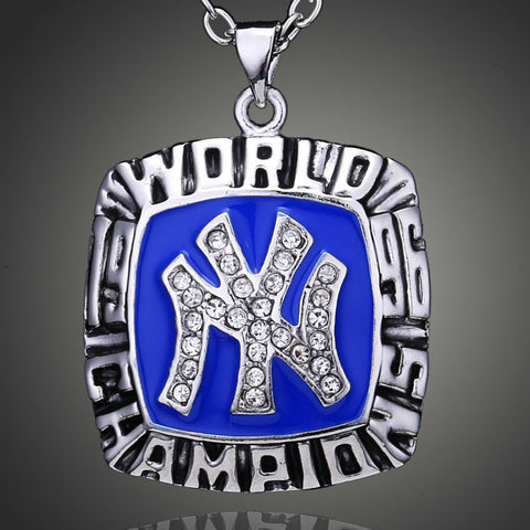 New York Yankees 1996 World Series Champion Pendant Baseball Necklace