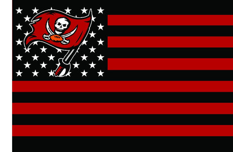 Tampa Bay Buccaneers NFL Waving Stars and Stripes Flag